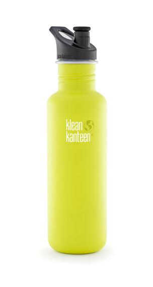 Klean Kanteen Classic Drikkeflaske Sport Cap 800ml gul